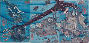 Kuniyoshi: Taira Tomomori at the bottom of the sea