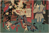 Kuniyoshi: Cat Witch, Cat Spectre and Dancing Cats