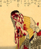 Yoshitoshi: Bloodied Samurai Resting on his Sword (Sold)