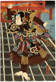 Kunisada: Jiraiya Fighting on a Roof Diptych
