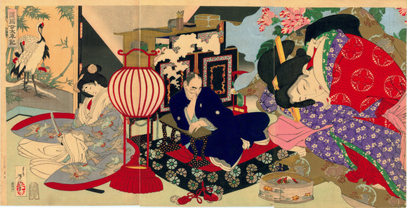 "Yoshitoshi: ""A Woman Saving the Nation: A Chronicle of Great Peace"" (Gokoku onna taiheiki)"