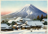 Hasui: Clearing After a Snowfall, Yoshida