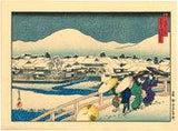 Sadanobu: Shijo Bridge in Snow