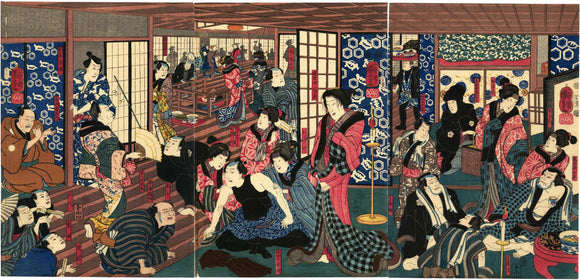Kuniyoshi: Actors Relaxing