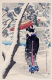 Itō Shinsui: Snow at the Shrine (Shatô no yuki)