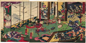 Kuniyoshi: Night Attach on Yamaki Mansion