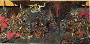 Utagawa Kunimasa II: Raiko slaying the Demon Shuten-doji