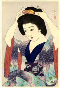 Natori Shunsen: Before the Mirror