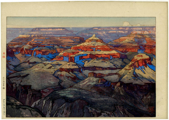 "Yoshida: ""The Grand Canyon"". Afternoon version of this famous design, with strong, vibrant colors. Quite rare."