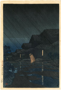 Hasui: Evening Shower, Teradomari