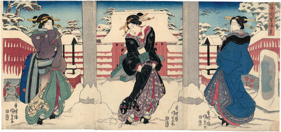 Kunisada: Beauties in Snow