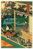 Kunisada: Flower Genji Remnant  of  Night (hana Genji yoru no omokage)