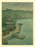 Hasui: Watercolor Painting of a Waterfront (Sold)