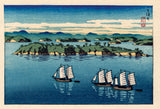 Hasui: Calendar Print Proof of Sailboats (Sold)