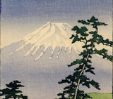 Hasui: Mount Fuji and Blooming Cherry Trees