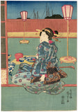 Kunisada: Sun, Moon and Stars Triptych