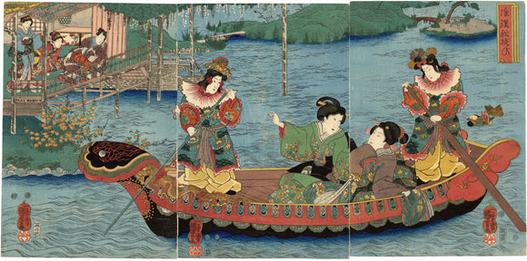 Kuniyoshi: A Chinese-Style Boating Party