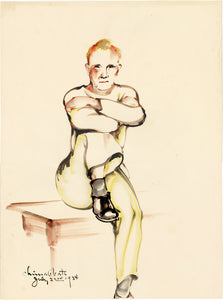 Obata: Watercolor study of a seated man