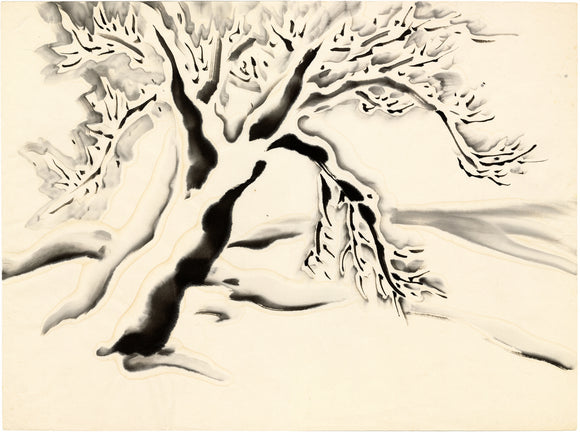 Obata: Large Tree in Snow