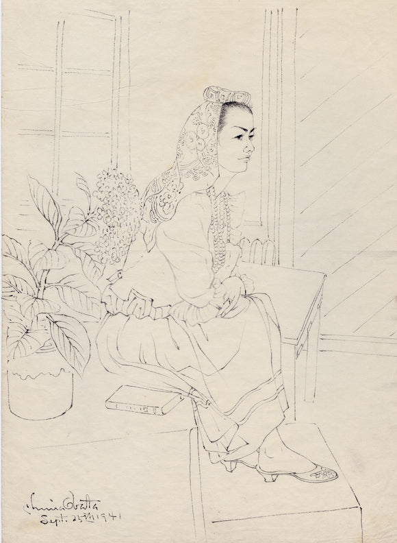 Obata: Brush Drawing of a Seated Model