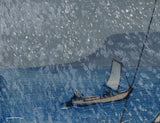 Ishizaki Shigetoshi 石崎重利: Sailboat in Snowstorm