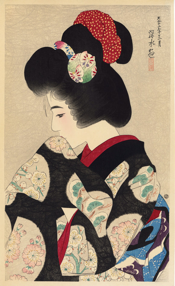 Ito Shinsui  伊東深水: Contemplating the Coming Spring