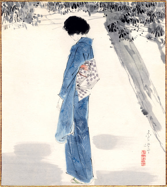 Shūhō: Painting of a beauty in a summer kimono