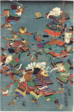 Yoshitoshi 芳年: The Great Battle of Chinese and Japanese Animals 和漢 獣物 大合戦 之 圖.