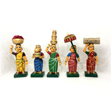Village Ladies set - Kondapalli Toys - set of 5