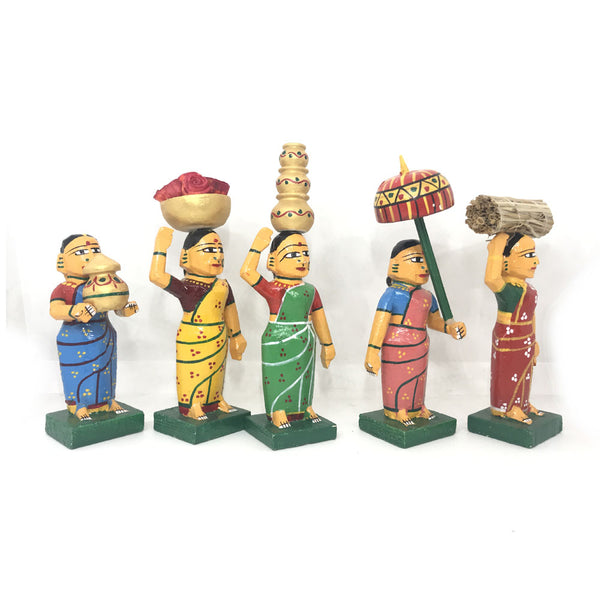 Village Ladies set - Kondapalli Toys