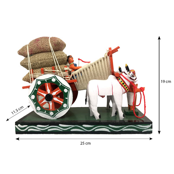 Size of bullock cart toy - Kondapalli Toys