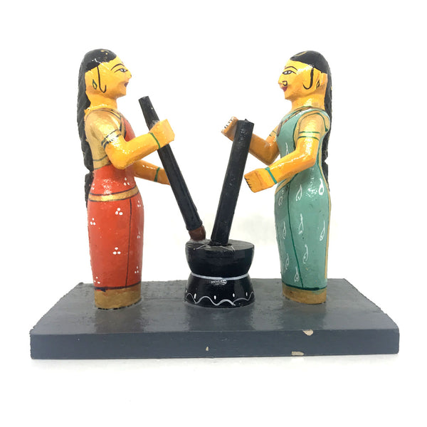 Traditional Rice Pounding - Kondapalli Toys
