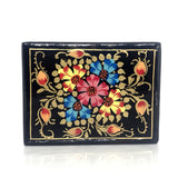 Jewellary box-black-handpainted-papier mache