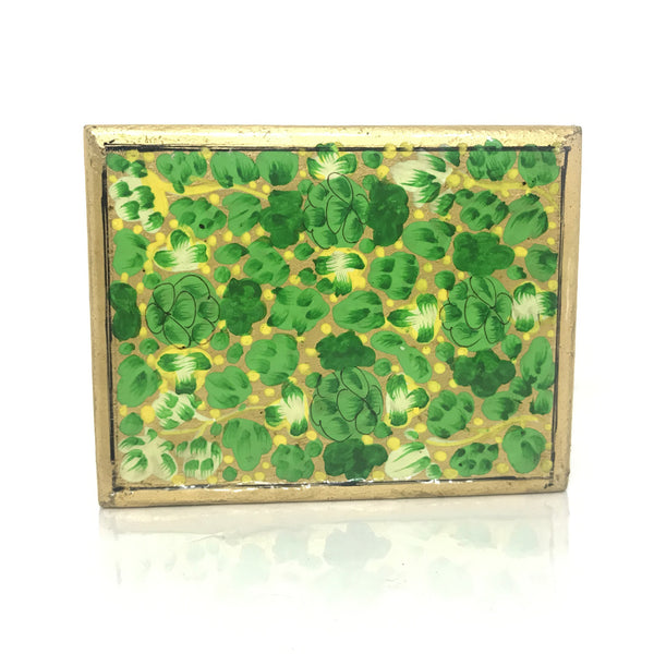 Jewellary box-green-handpainted