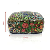 Jewellary Curved Box - Hand painted floral design - Artsytribe