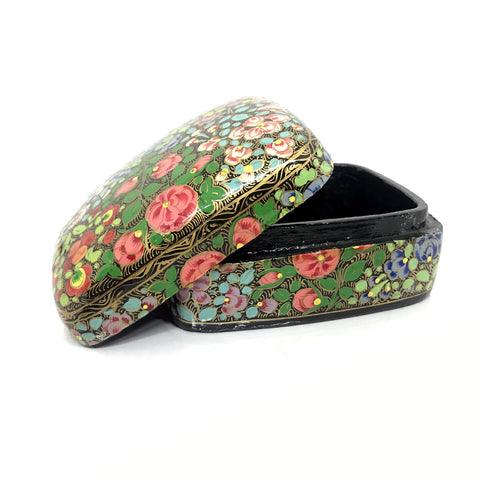 Jewellary Box - Curved Design - Hand painted floral art