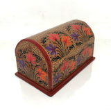 Jewellary Box - Curved top design - Red color - Floral pattern