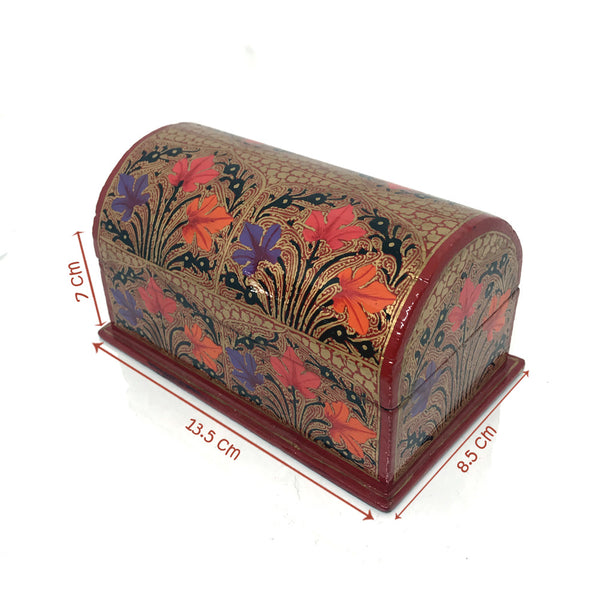 Jewellery Box - Curved top design - Red color