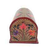 Jewellary Box - Red color - Floral pattern