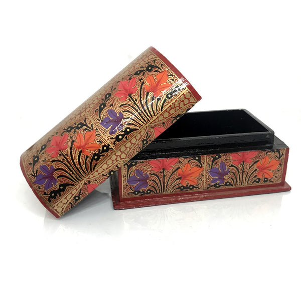 Jewellary Box - Curved top design - Red color
