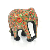 Elephant showpiece -  Orange Floral design