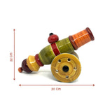 Size of Wooden Toy Cannon - Etikoppaka Handicraft