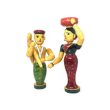 Farming Couple Figurine - Etikoppaka Handicraft