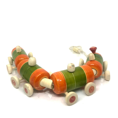 Wooden Toy Train for Kids - Etikoppaka Handicraft