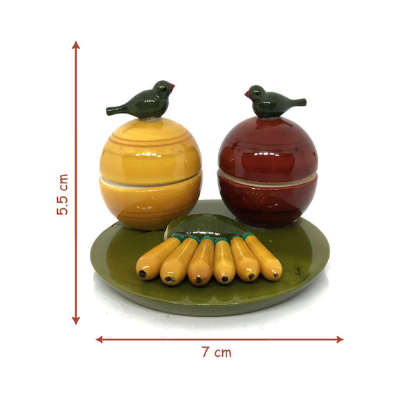 Size of Wooden Haldi Kumkum Handmade box - Etikopakka Handicraft