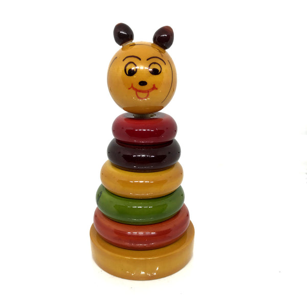 Eco-friendly Wooden Stacking Rings for kids - Etikoppaka Handicraft
