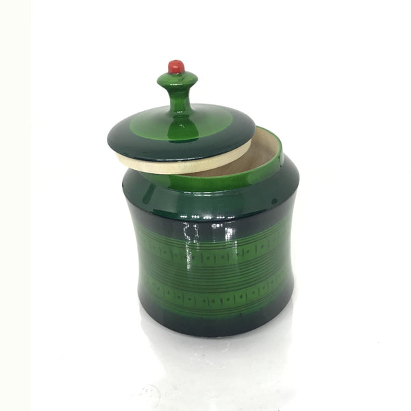 Small Wooden Jar with Lid - Etikoppaka Handicraft