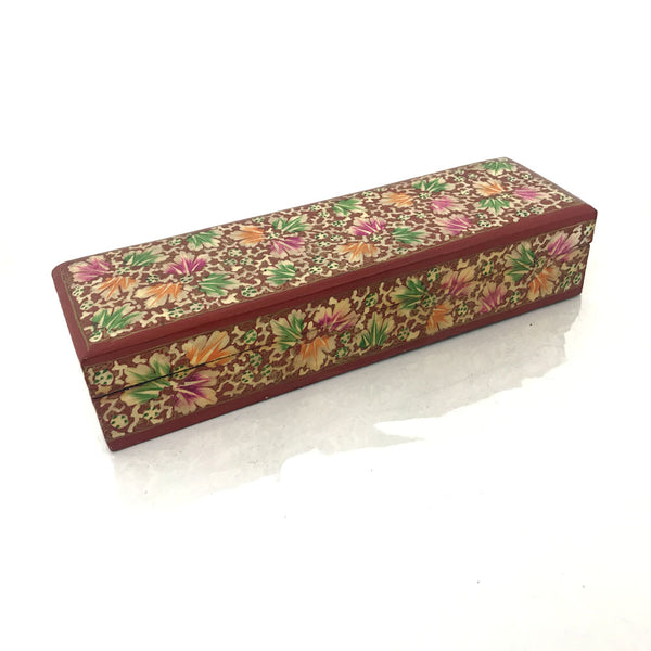 Long Jewellary Storage Box - Floral design