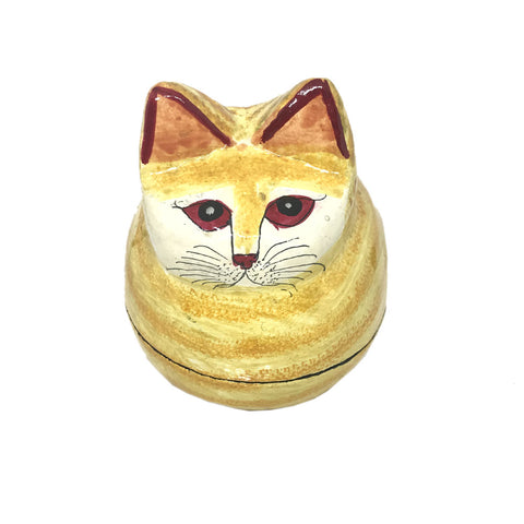 Mini Jewellary Box - Cat Shaped - Papier Mache