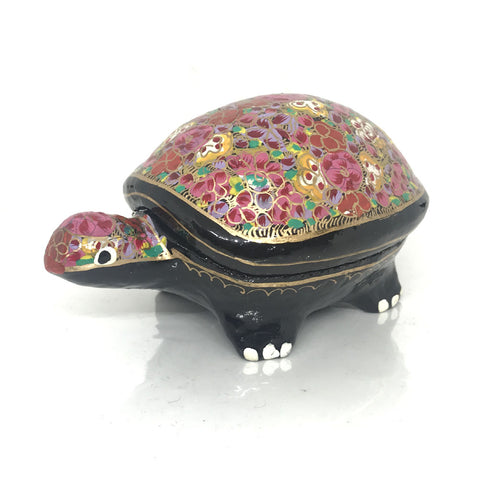 Mini Jewellary Box - Tortoise Shaped - Papier Mache